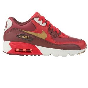 Nike Air Max 90 Leather GS 'Red Gold'